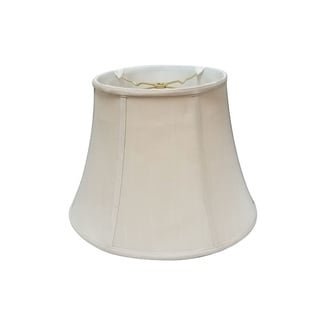 Royal Designs Regal Series Beige Fabric 14-inch Bell Lampshade