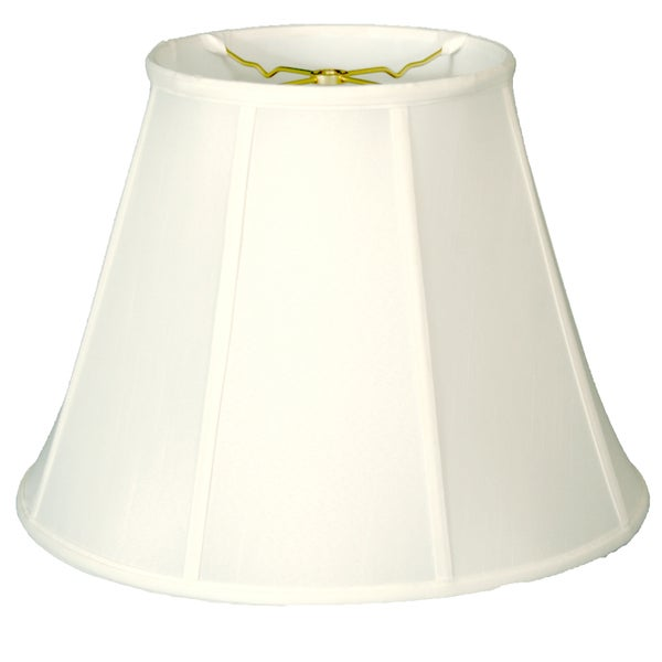 Royal Designs Regal Series Deep Empire White Fabric 16-inch Lamp Shade