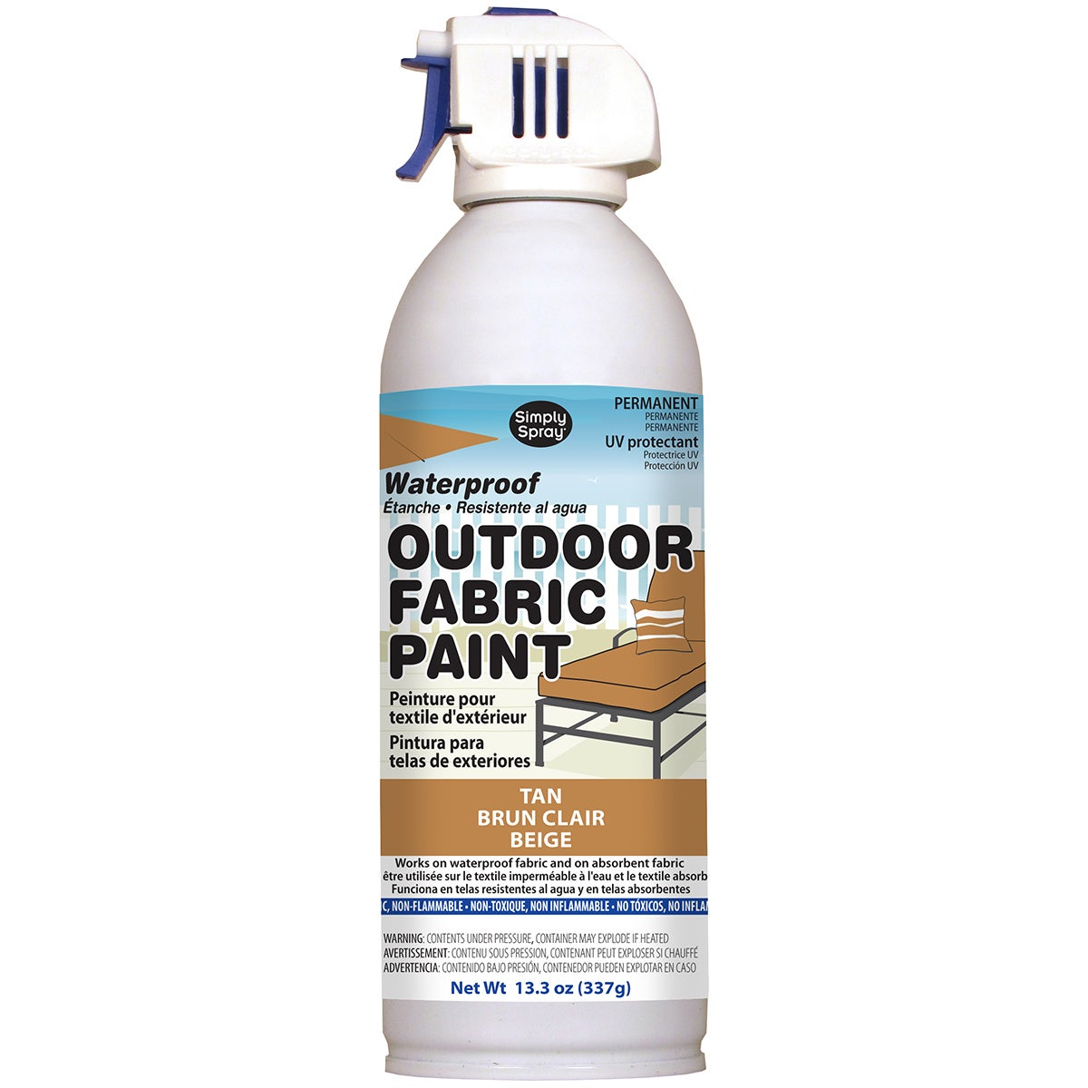 Deval Products Outdoor Spray Fabric Paint 13.3oz (Tan), B...