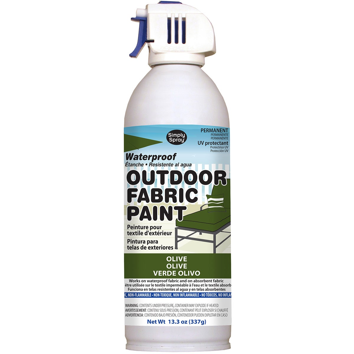 Deval Products Outdoor Spray Fabric Paint 13.3oz (Olive),...