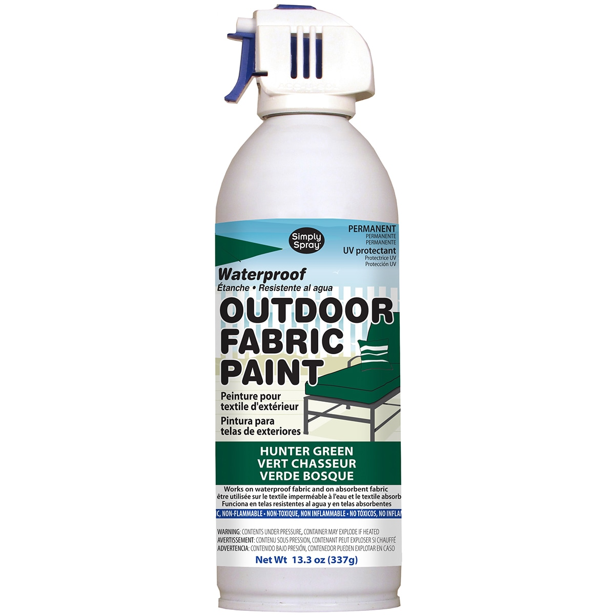 Deval Products Outdoor Spray Fabric Paint 13.3oz (Hunter ...