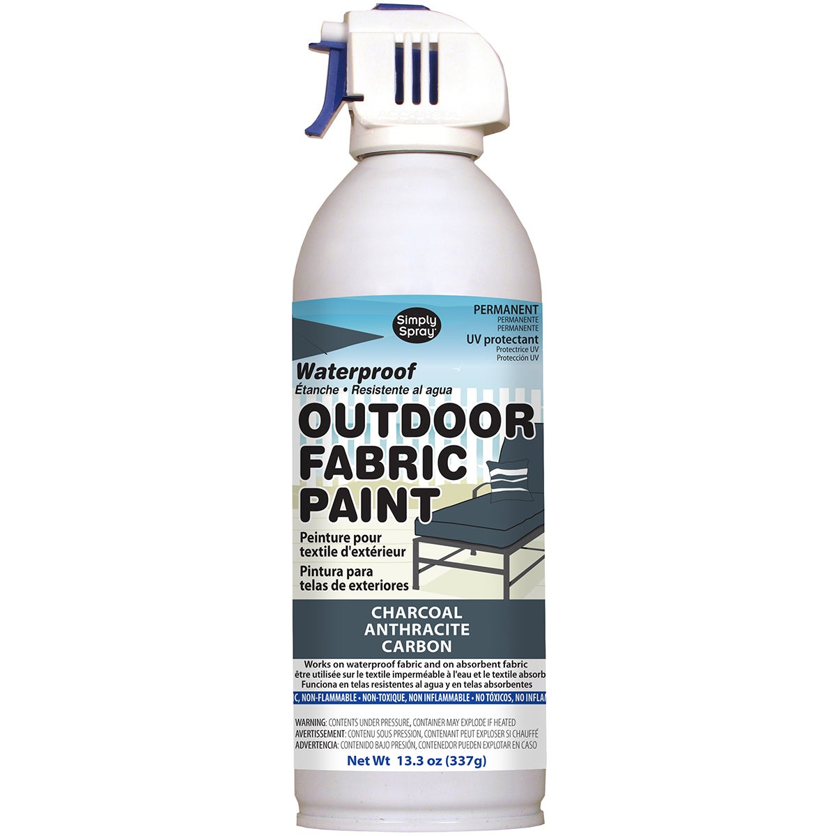 Deval Products Outdoor Spray Fabric Paint 13.3oz (Charcoa...