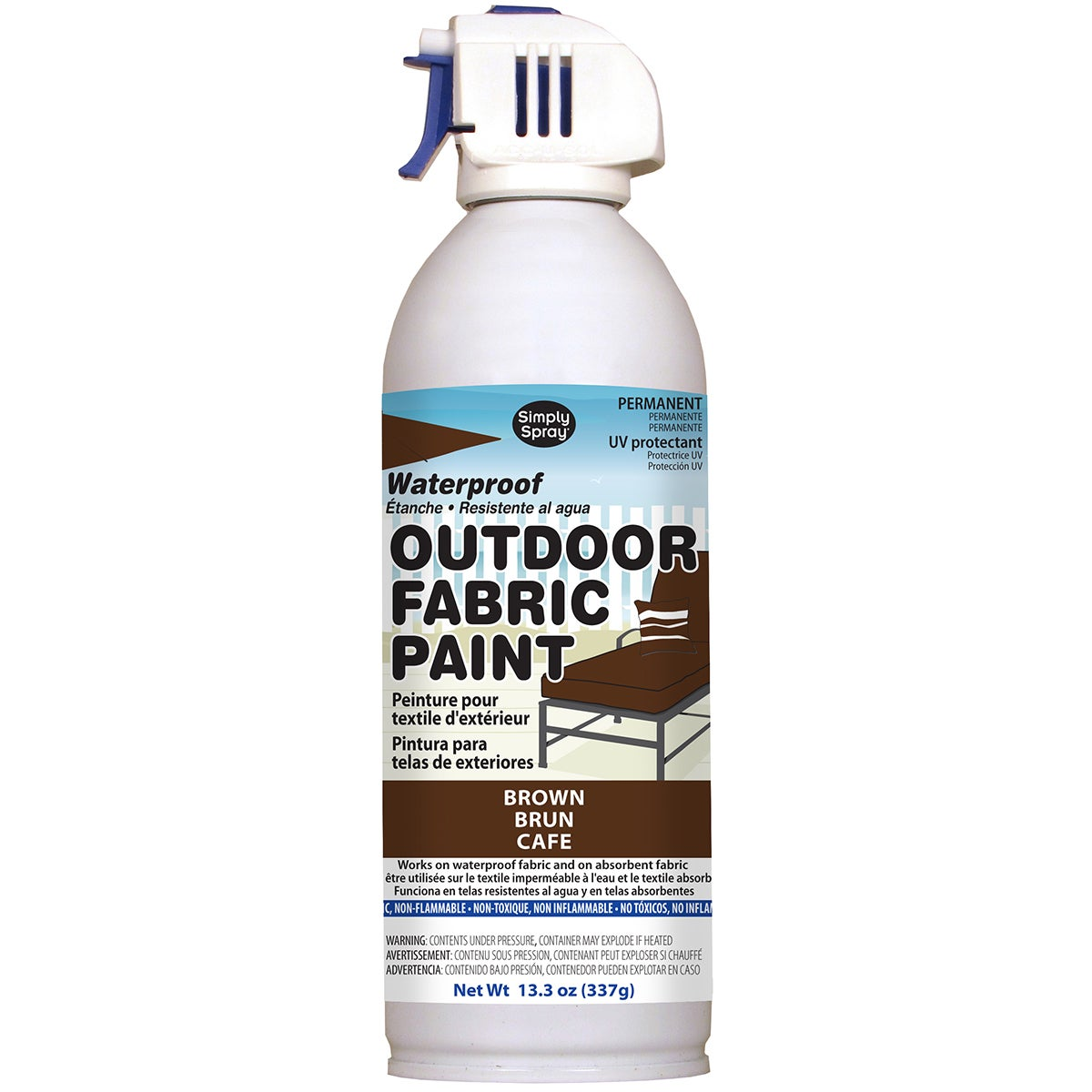 Deval Products Outdoor Spray Fabric Paint 13.3oz (Brown)