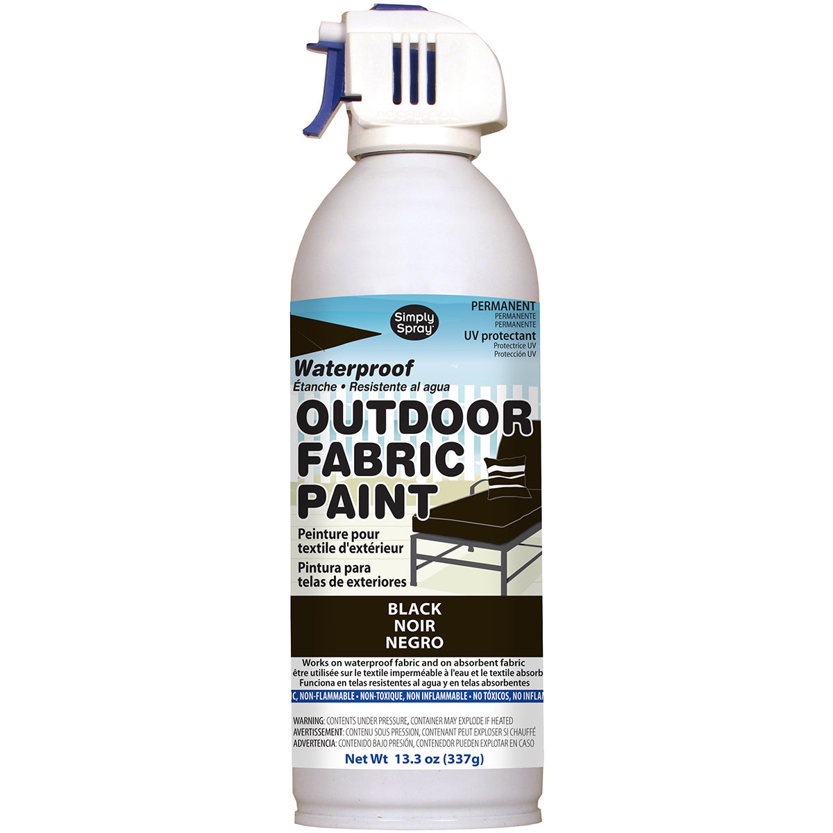 Outdoor Spray Fabric Paint 13.3oz (Black)