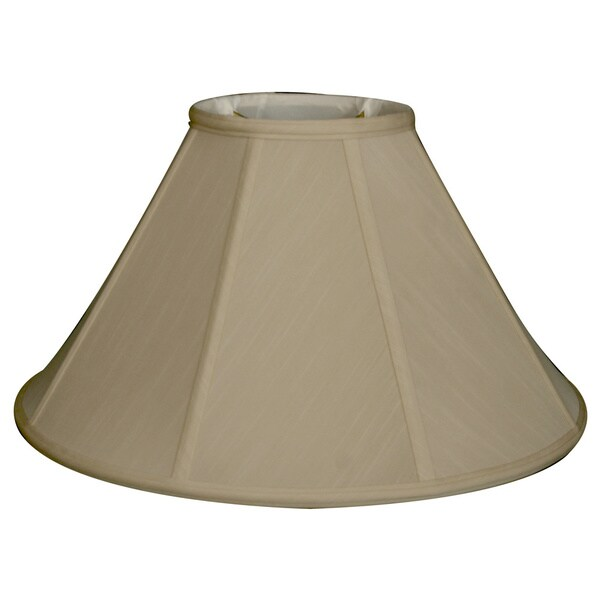 Regal Series Beige Fabric 13-inch Empire Wall Lampshade