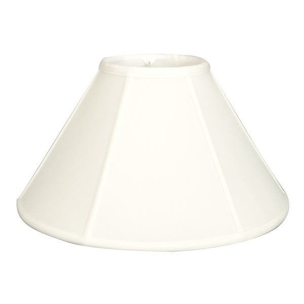 Royal Designs Regal Series White Fabric 20-inch Empire Lamp Shade