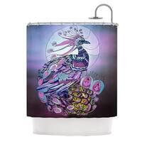 KESS InHouse Catherine Holcombe Peacock Purple Lavender Shower Curtain (69x70)