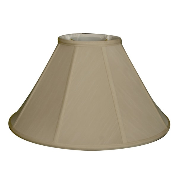 Royal Designs Regal Series Beige Fabric 20-inch Empire Lampshade