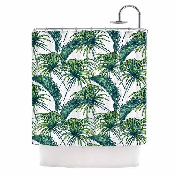 KESS InHouse Kess Original Palmtastic Green Nature Shower Curtain (69x70)