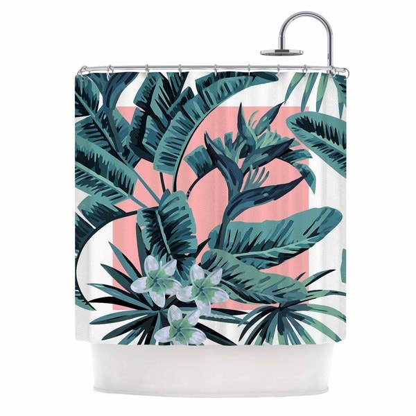 KESS InHouse Kess Original Monstera Nature Pop Art Shower Curtain (69x70)