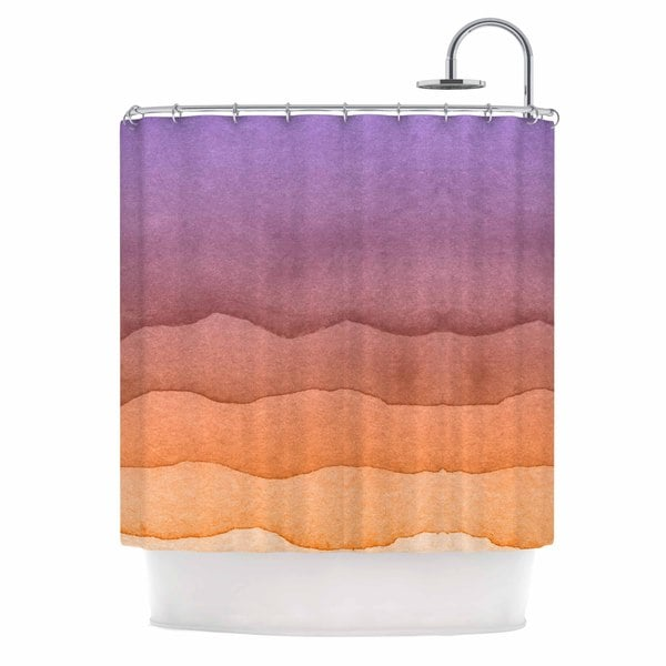 KESS InHouse Kess Original Ombre Sunrise Orange Watercolor Shower Curtain (69x70)