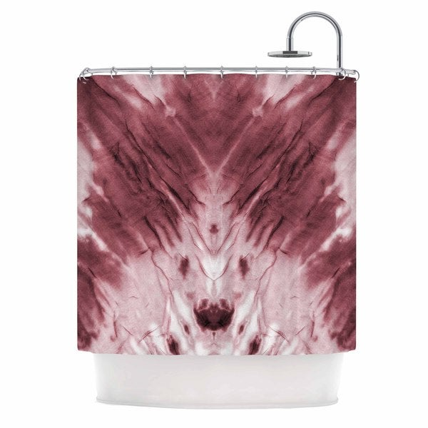 KESS InHouse Kess Original Red Dye Abstract White Shower Curtain (69x70)