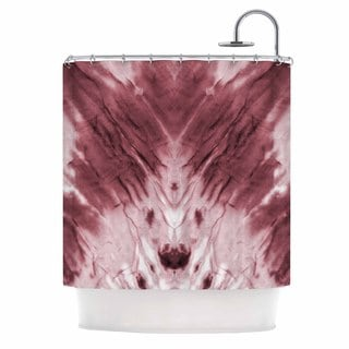 KESS InHouse Kess Original Red Dye Abstract White Shower Curtain (69x70)