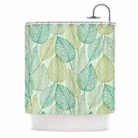 KESS InHouse KESS Original Make Like A Tree Green Pattern Shower Curtain (69x70)