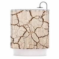 KESS InHouse KESS Original Drought Brown Beige Shower Curtain (69x70)
