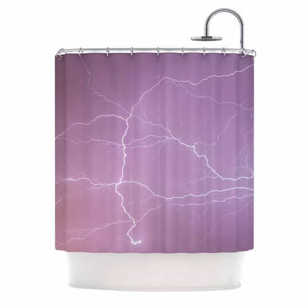 KESS InHouse KESS Original Pastel Lightning Pastel Pink Shower Curtain (69x70)