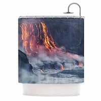 KESS InHouse KESS Original Lava Gray Orange Shower Curtain (69x70)