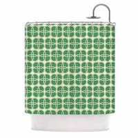 KESS InHouse KESS Original Celtic Crosses Green Pattern Shower Curtain (69x70)