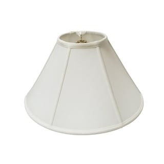 Royal Designs Regal Series White Fabric 14-inch Empire Lampshade