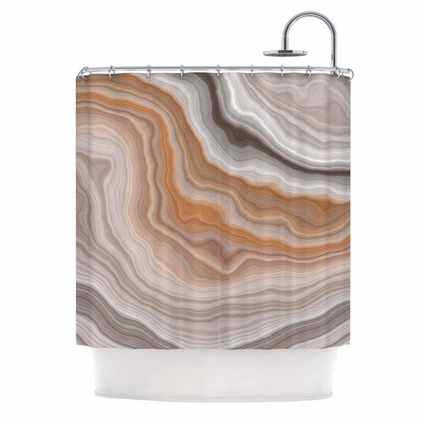 KESS InHouse KESS Original Burnt Orange Geological Shower Curtain (69x70)