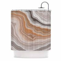 KESS InHouse KESS Original Burnt Orange Geological Shower Curtain (69x70)