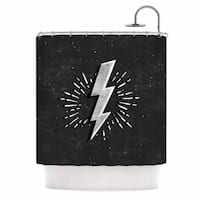 KESS InHouse KESS Original Bolt Black White Shower Curtain (69x70)