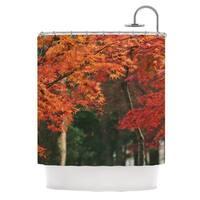 KESS InHouse Catherine McDonald Autumn Sonata Orange Green Shower Curtain (69x70)