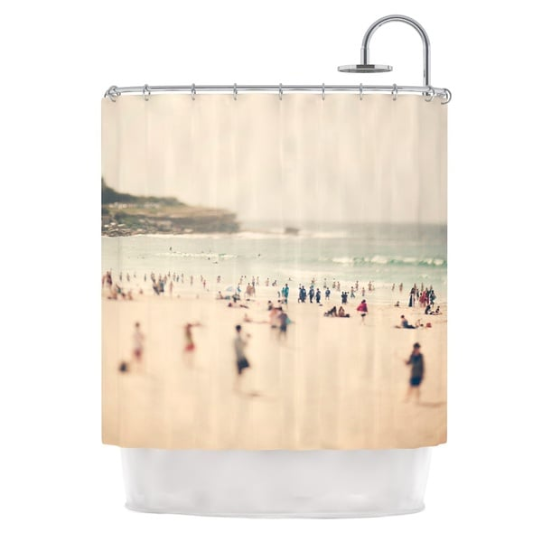 KESS InHouse Catherine McDonald Bondi Beach Coastal People Shower Curtain (69x70)