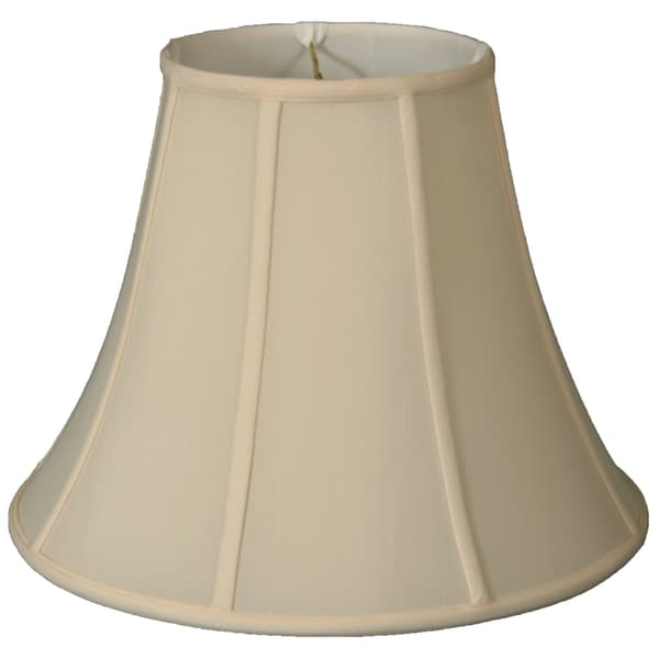 Royal Designs Regal Series True Bell Off-white Fabric 18-inch Lamp Shade