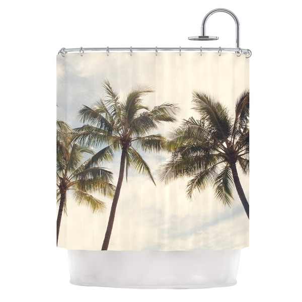 KESS InHouse Catherine McDonald Boho Palms Coastal Trees Shower Curtain (69x70)
