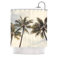 KESS InHouse Catherine McDonald Boho Palms Coastal Trees Shower Curtain (69x70)