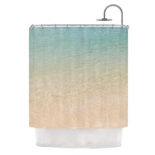 KESS InHouse Catherine McDonald Ombre Sea Beach Photography Shower Curtain (69x70)