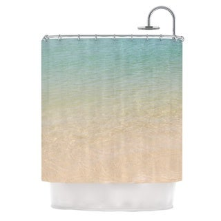KESS InHouse Catherine McDonald Ombre Sea Beach Photography Shower Curtain (69x70)