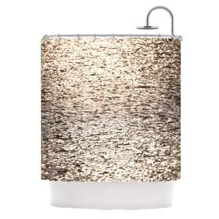 KESS InHouse Catherine McDonald Golden Hour Water Reflection Shower Curtain (69x70)