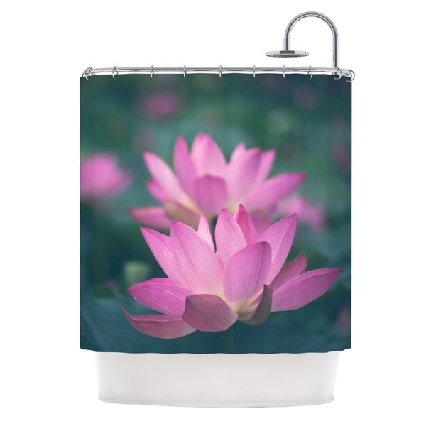 KESS InHouse Catherine McDonald Hope for Tomorrow Pink Green Shower Curtain (69x70)