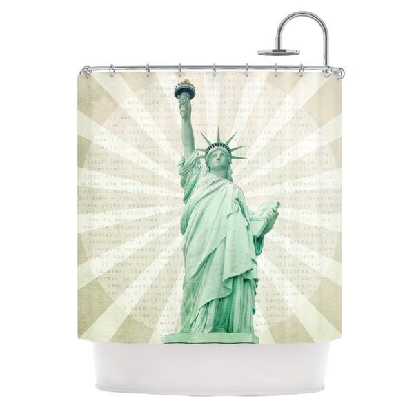 KESS InHouse Catherine McDonald The Lady Statue of Liberty Shower Curtain (69x70)