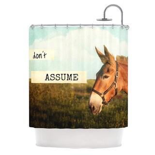 KESS InHouse Catherine McDonald Don't Assume Shower Curtain (69x70)
