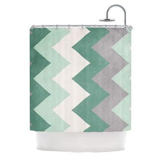 KESS InHouse Catherine McDonald Winter Green Shower Curtain (69x70)