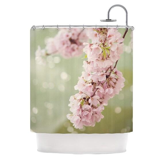 KESS InHouse Catherine McDonald Cherry Blossom Shower Curtain (69x70)