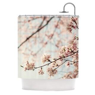 KESS InHouse Catherine McDonald Japanese Cherry Blossom Shower Curtain (69x70)