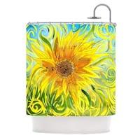 KESS InHouse Catherine Holcombe Syaured Yellow Green Shower Curtain (69x70)
