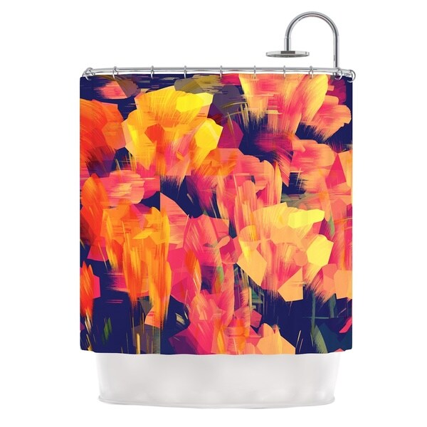 KESS InHouse Kathryn Pledger Geo Flower Shower Curtain (69x70)