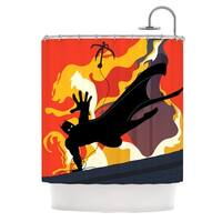 KESS InHouse Kevin Manley Prodigal Son Batman Fire Shower Curtain (69x70)