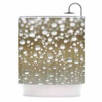 KESS InHouse Kristi Jackson Neutral Rain Beige Nature Shower Curtain (69x70) - 69 x 70