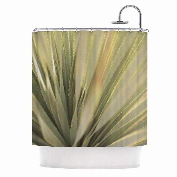 KESS InHouse Kristi Jackson Cactus Green Yellow Shower Curtain (69x70)
