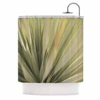 KESS InHouse Kristi Jackson Cactus Green Yellow Shower Curtain (69x70)