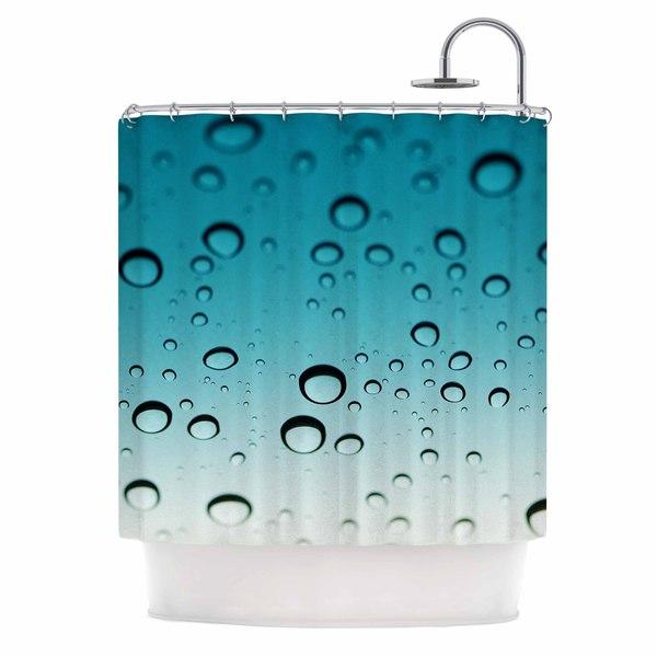 KESS InHouse Kristi Jackson Blue Rain Teal Ombre Shower Curtain (69x70)