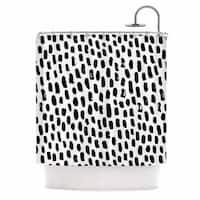 KESS InHouse Kess Original Ink Dots Black White Shower Curtain (69x70)