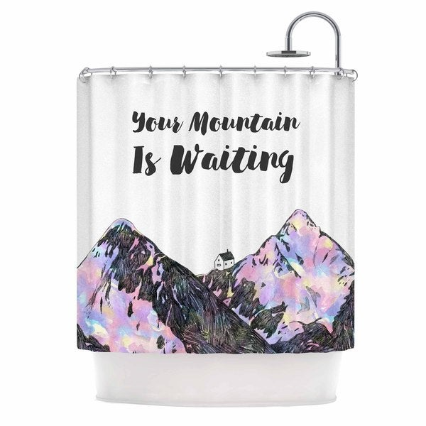 KESS InHouse Kess Original Your Mountain Is Waiting Pink Purple Shower Curtain (69x70)