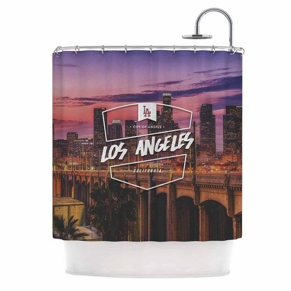 KESS InHouse Kess Original Los Angeles ll Pink Purple Shower Curtain (69x70)